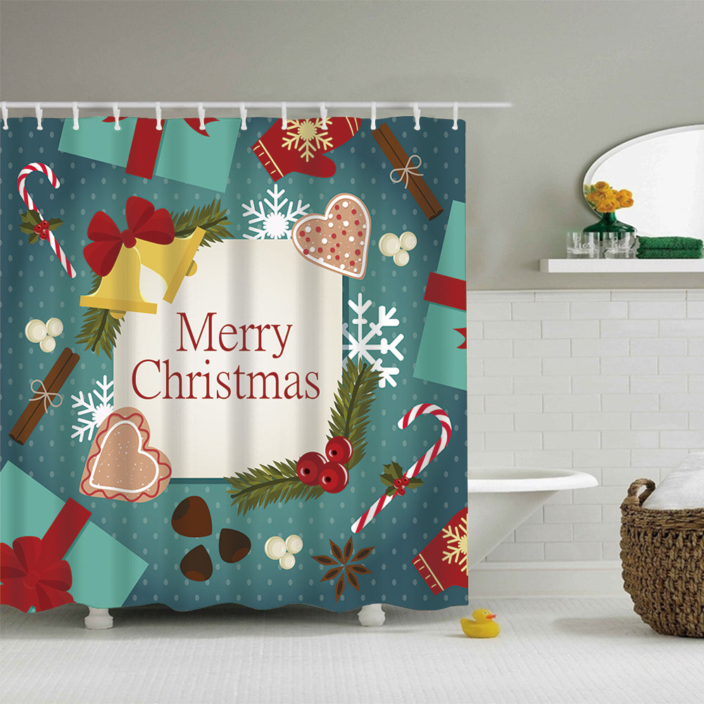 Christmas Gifts with Heart Shower Curtain