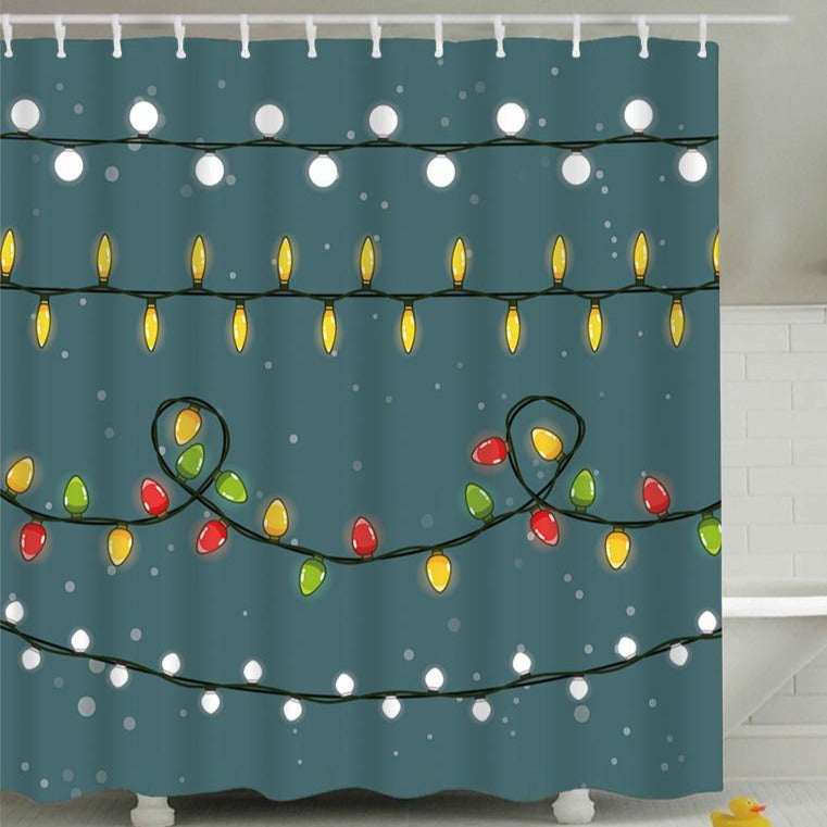 Christmas Wire Bulb Shower Curtain