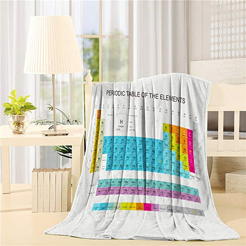 Clear Periodic Table of the Elements Throw Blankets