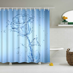 Clear Water Rose Shower Curtain