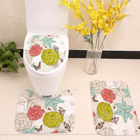 Colorful Hydrangea Floral Toilet Seat Cover