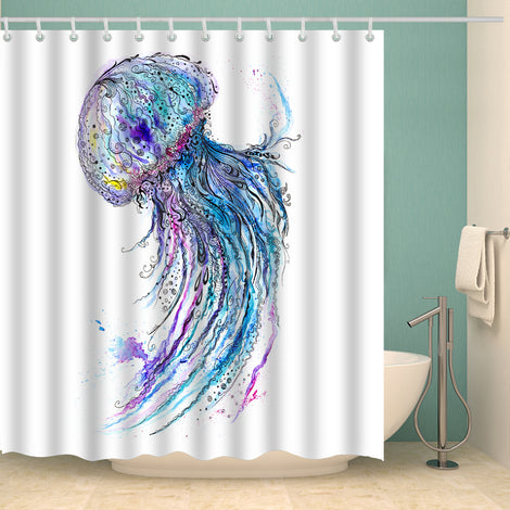 Jellyfish Shower Curtain Collection