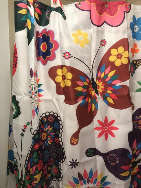 Colorful Monarch Butterfly Shower Curtain