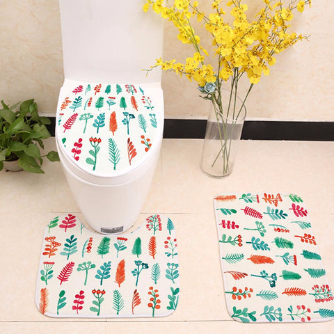 Colorful Painting Cute Tree Plant Toilet Seat Cover