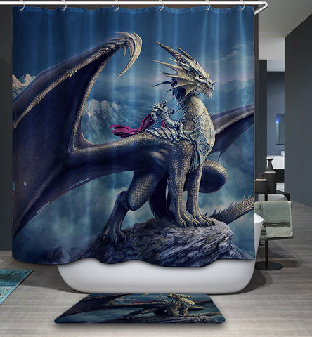 Cool Dragon Warriors Shower Curtain