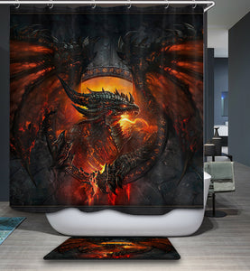 Cool Dragon World of Warcraft Shower Curtain