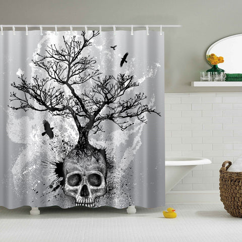Cool Tree Skull Shower Curtain
