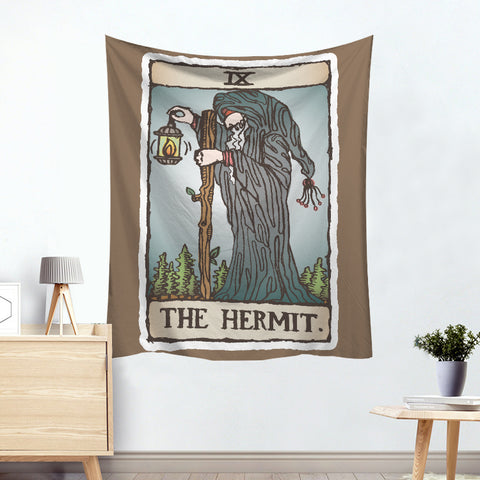 Cronus The Hermit Colorful Divination Tarot Card Tapestry