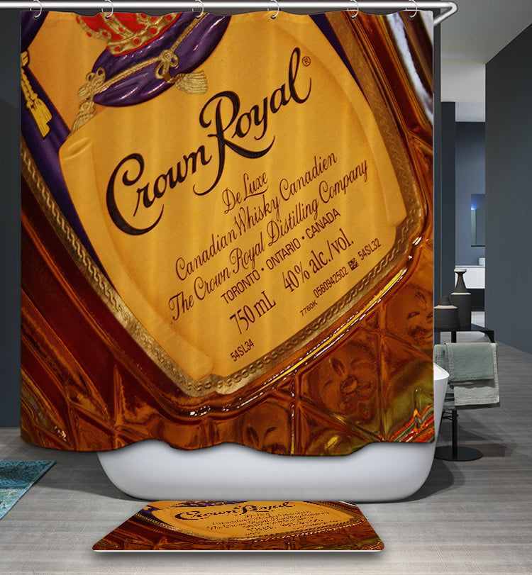 Crown Royal Whisky Wine Shower Curtain