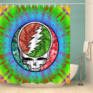 Custom Grateful Dead Steel Your Face Tiedye Shower Curtain