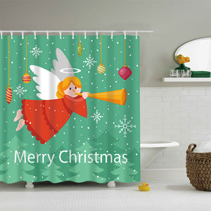 Cute Angel with Horn Shower Curtain