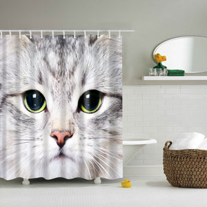 Cute Kitten Cat Face Shower Curtain | GoJeek
