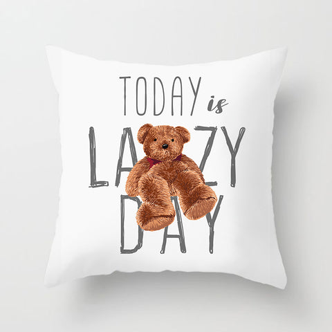 Cute Cartoon Animal Funny Quote Throw Pillow Covers