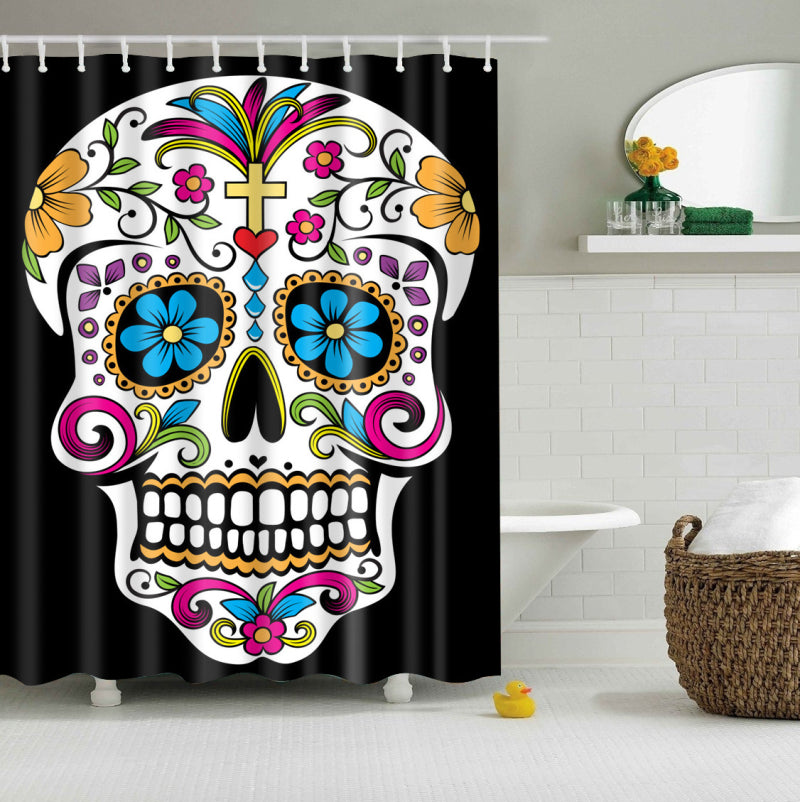 Day of The Dead Calavera Shower Curtains | GoJeek