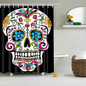 Day Of The Dead Calavera Shower Curtains