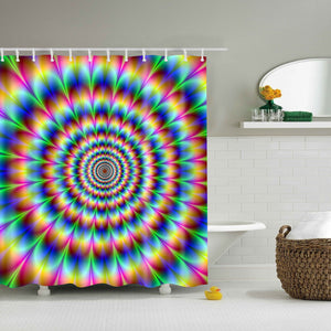 Dazzling Psychedelic Eye Trippy Shower Curtain