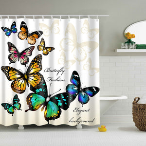 Decorative Butterfly Wings Shower Curtain