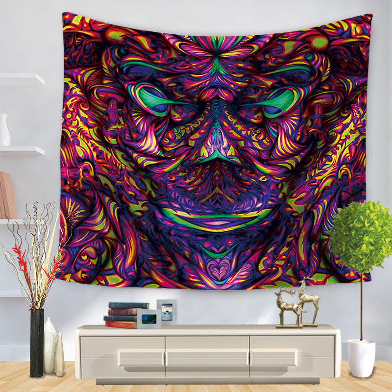 Deep Mind Man Psychedelic Trippy Art Tapestry