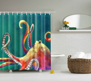 Deny Design Clara Nillers Mardi Gras Octopus Shower Curtain