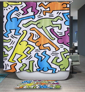 Designer Keith Haring Shower Curtain