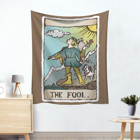 Dionysus The Fool Colorful Divination Tarot Card Tapestry