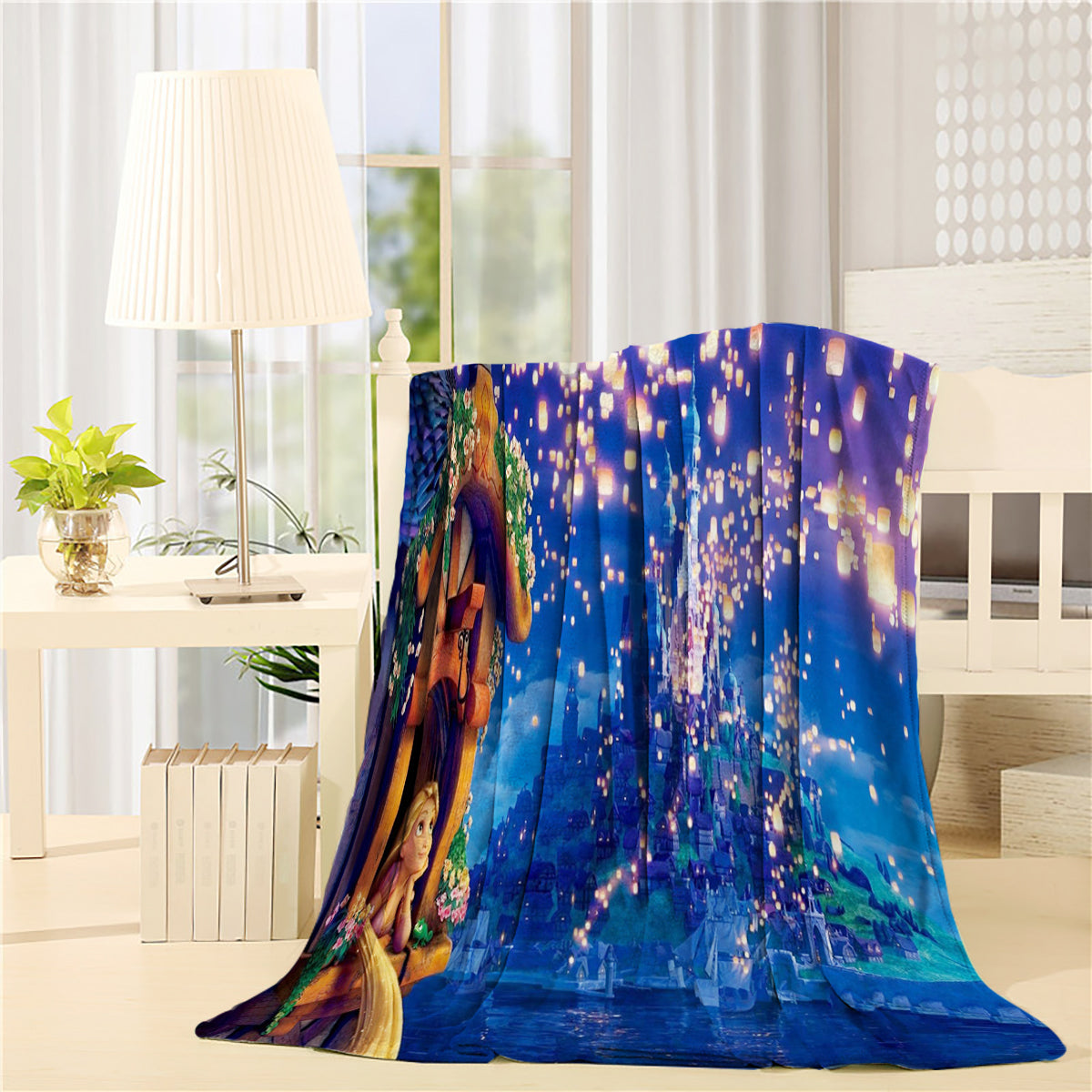 Disney Castle Firework Frozen Throw Blanket