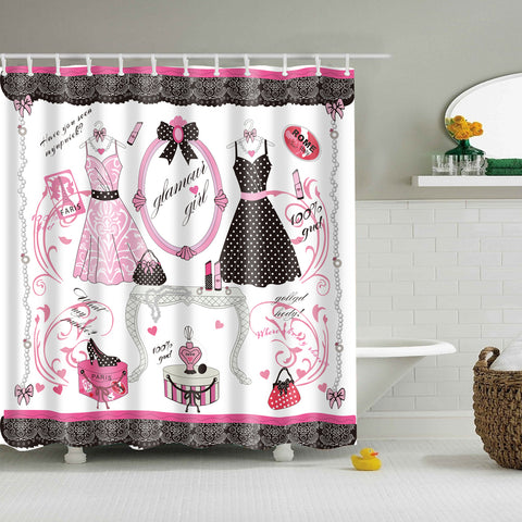 Diva Canvas Fashion Clothes Glamour Girl Shower Curtain
