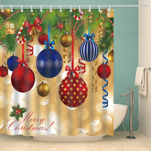 Diy Christmas Ornaments Decoration Holiday Shower Curtain
