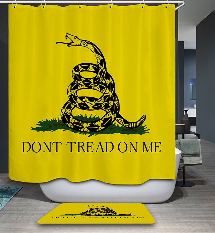 Dont Tread On Me Snake Shower Curtain
