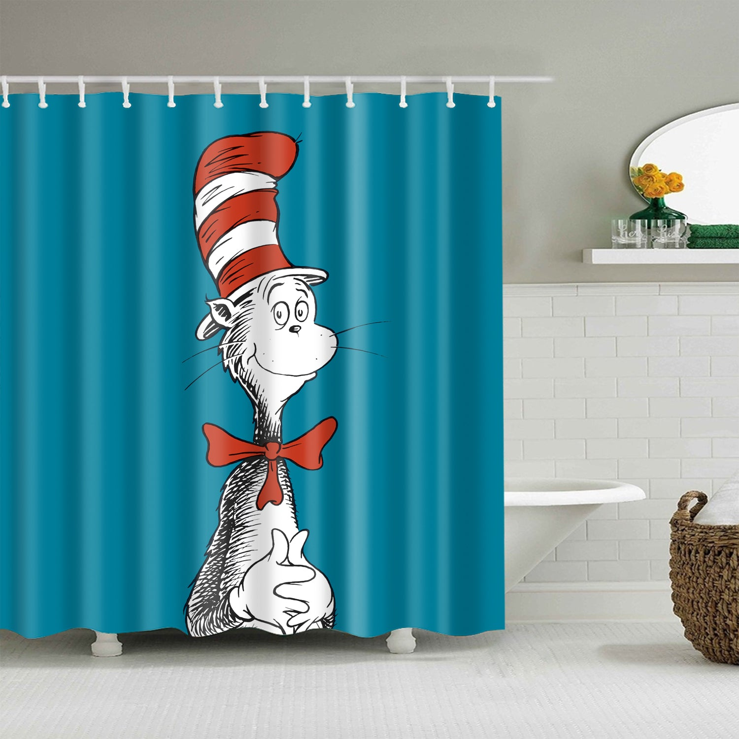 Dr Seuss Cat in The Hat Shower Curtain