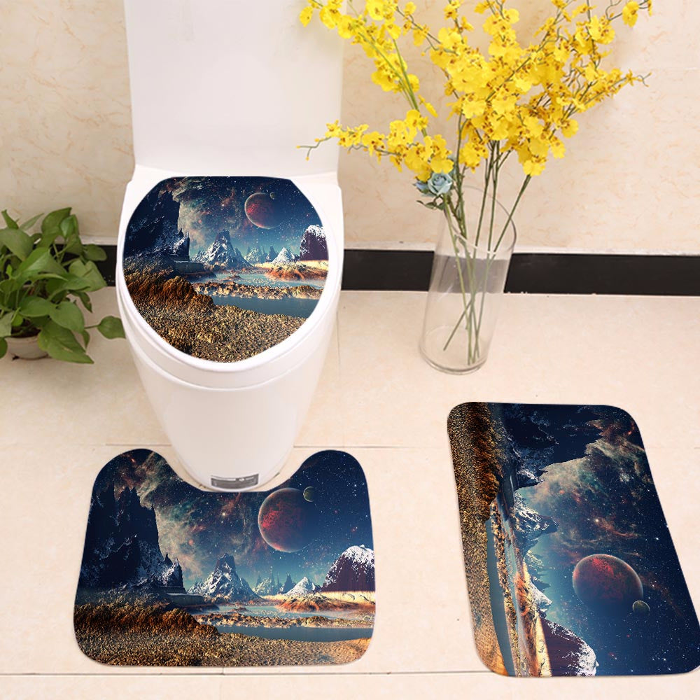 Dreamy Planet Landscape Galaxy Toilet Seat Cover