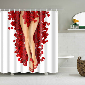 Dried Rose Petals Sexy Women Shower Curtain