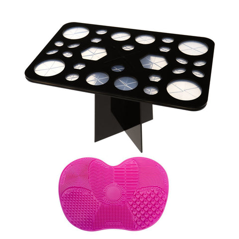Drying Rack Tree Air Tower Makeup Brush Holders - 28 Holes