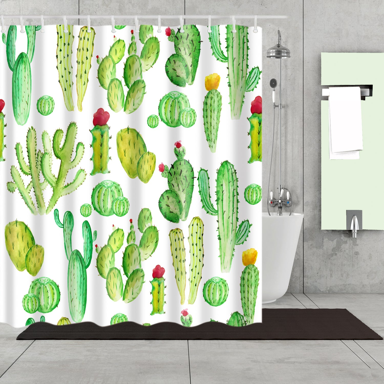 Eastern Prickly Pear Cactus Garden Shower Curtain