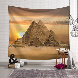 Egypt Travel Ancient Buildings Pyramid Tapestry