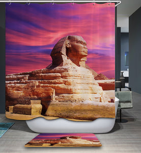 Egyptian Eternelle Pharaoh Pyramid Shower Curtain