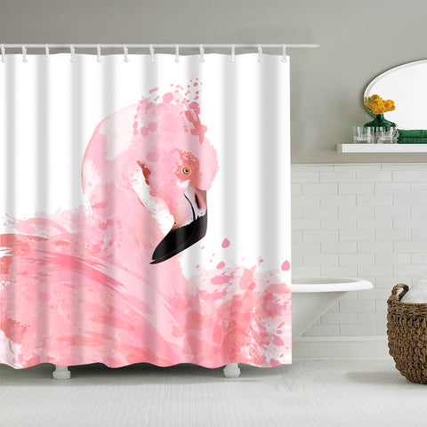 Elegant Bird Flock Flamingo Fever Shower Curtain