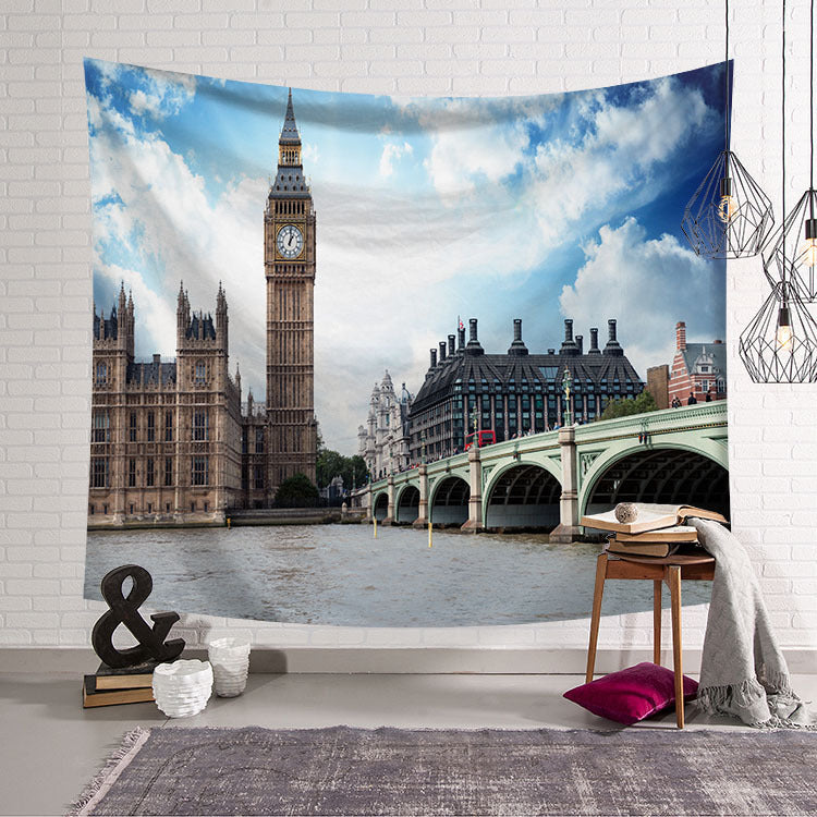 England Travel Big Ben Cityscape London Tapestry