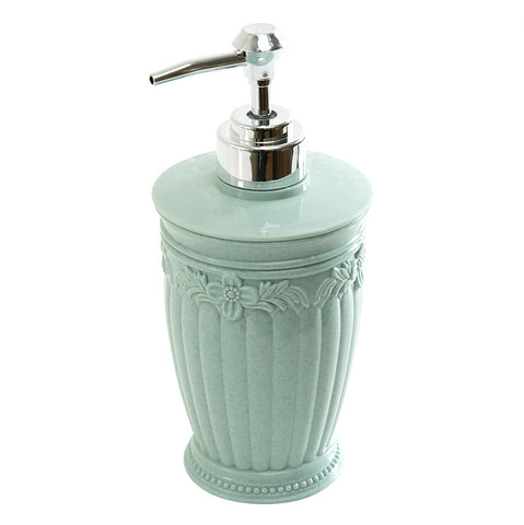 European Marble Pillar Shape Light Weight Plastic Soap Dispenser