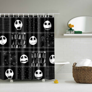 Faces of Jack Skellington Halloween Shower Curtain