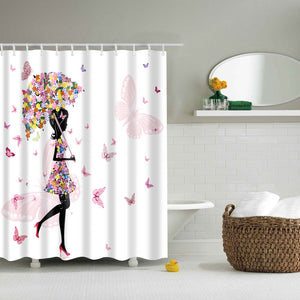 Fairy Girl with Umbrella Shower Curtain | GoJeek