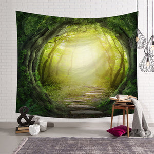 Fairy Tale Enchanted Forest Tapestry