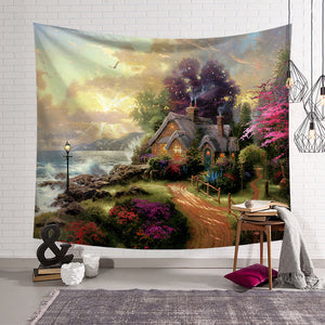 Fairy Tale House Scenery Tapestry