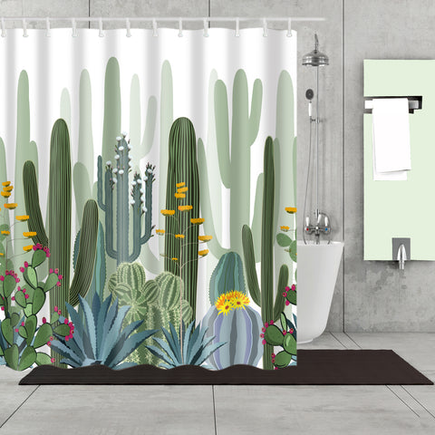Family Cacti Plants Succulents Shower Curtain