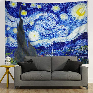 Famous Design Van Gogh The Starry Night Tapestry