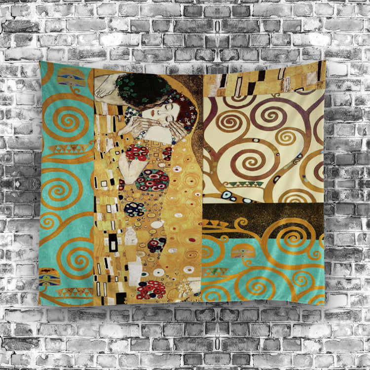 Famous Painting Romance The Kiss Tapestry