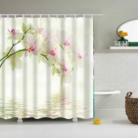 Fancy Spring Orchid Shower Curtain