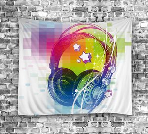 Fantasy Colorful Headset Tapestry