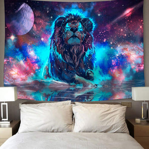 Fantasy Constellation Galaxy Space Leo Lion Tapestry