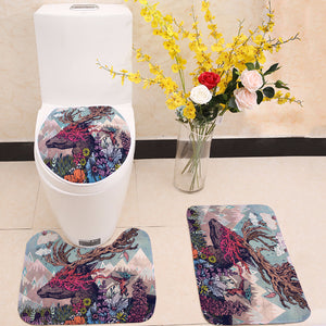 Fantasy Lavender Journeying Spirit Deer Toilet Seat Cover